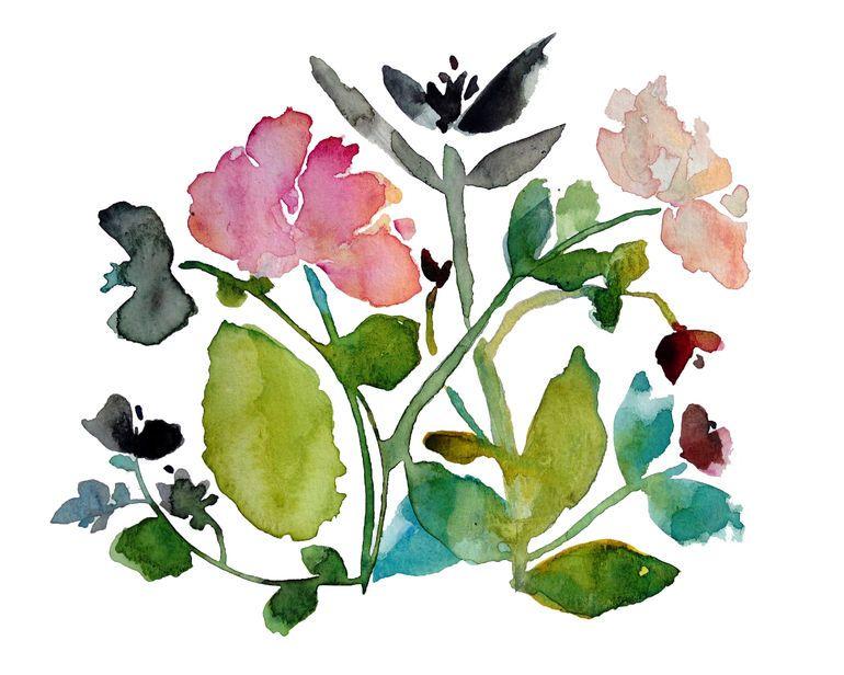 Kiana Mosely #watercolor #art #painting | art: botanical and ...