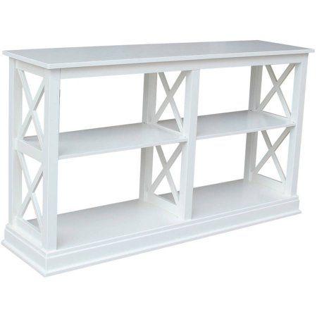 International Concepts Hampton Sofa Server Table With Shelves Walmart Com In 2020 Home White Sofa Table Home Furniture