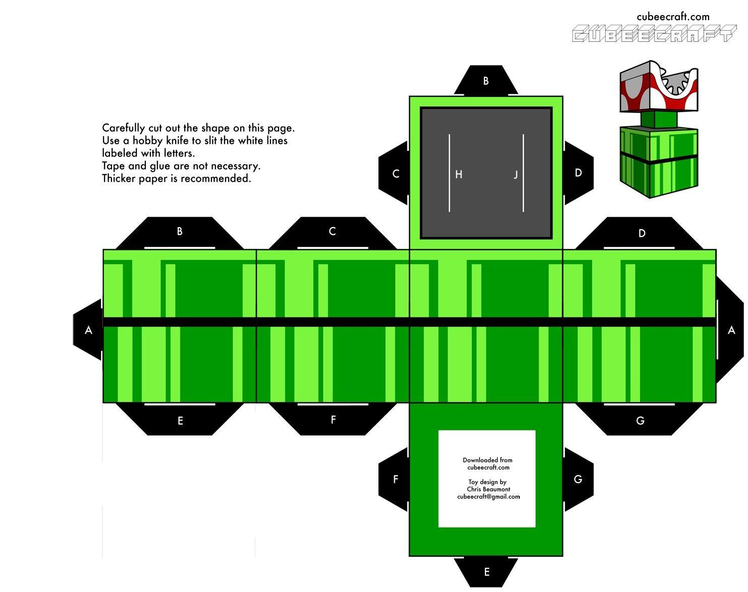 1 of 2----Imprimibles: Papercraft Super Mario Bros - El invernadero ...