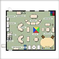 Kaplan Classroom Floorplan EDU104 Pinterest Classroom setup