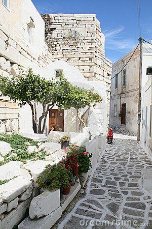 Typical greek island town - Paros Island, Greece by Pavlos Rekas, via Dreamstime