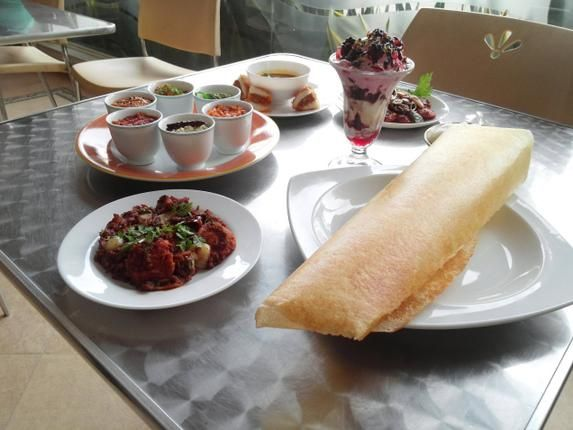 Some Of The Dishes On Dosa Festival Menu At Cafe Canopy Hotel Abad Plaza