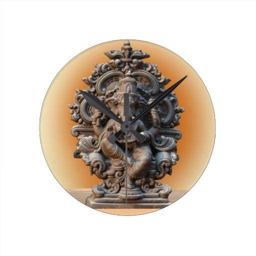 Hindu God Ganesh Wall Clock Zazzle Com Hindu Gods Ganesh Hindu