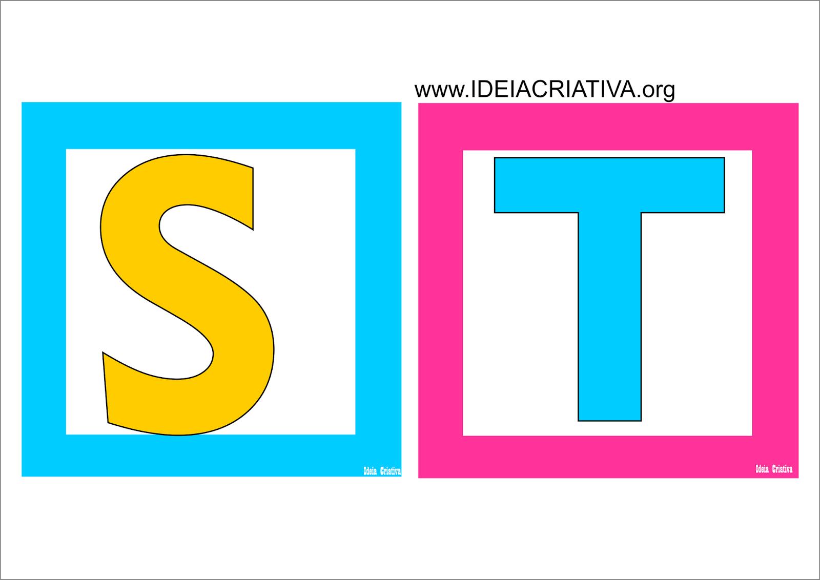 Alfabeto Quadradinho Colorido Para Imprimir Gratis Com Imagens