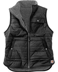 Carhartt Women's Burlwood Amoret Sherpa-Lined Vest #carharttwomen