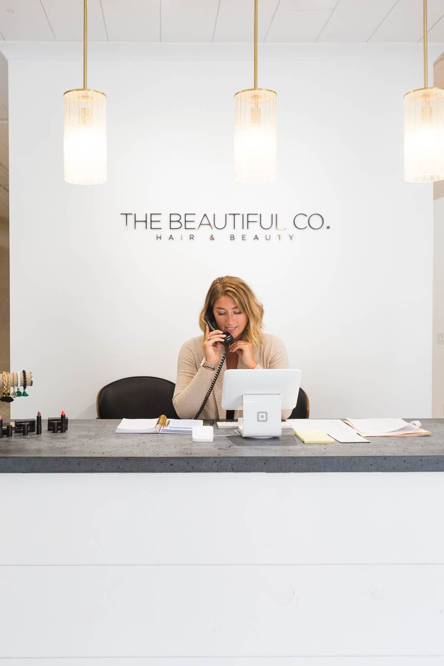 the beautiful co, greenville sc salon, branding and