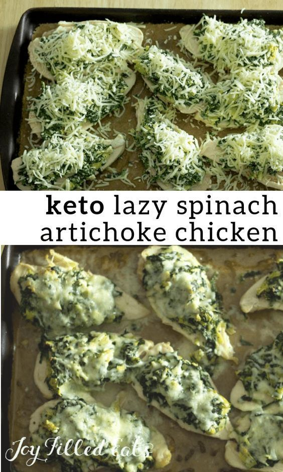 LAZY SPINACH ARTICHOKE CHICKEN BREASTS low carb vegetarian recipes keto recipes easy keto lunch ideas keto diet for beginners keto dessert keto before and after low calor...