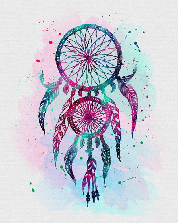 Pictures Of Dream Catchers: Tattoos, Watercolor