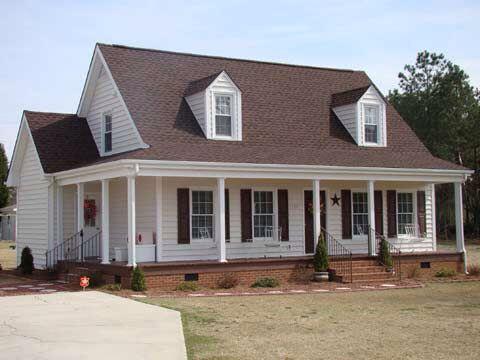 Best Exterior Colors Autumn Brown Roof Brick Exterior House 400 x 300