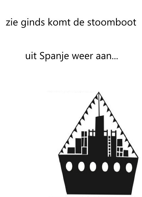 Quatang Gallery- Poster Sinterklaas Kapoentje Verkrijgbaar In Formaat A4 A5 En A6 Sinterklaas Poster Zwarte Piet