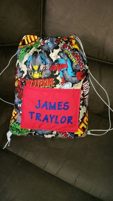 Personalised p.e. bag with pocket