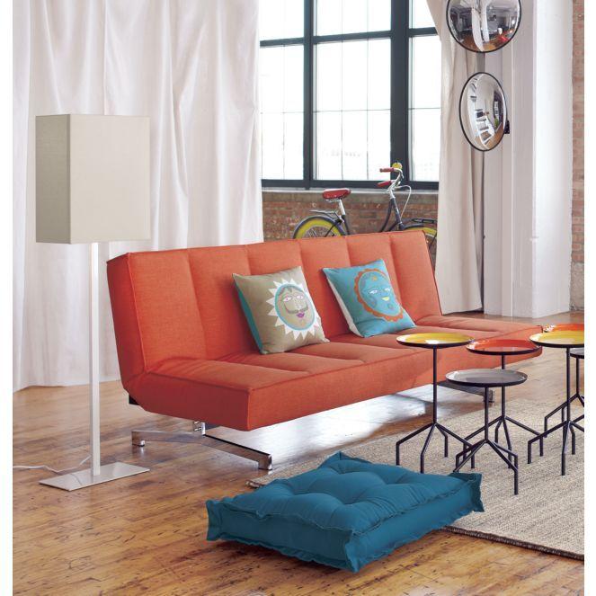 Flex Orange Sleeper Sofa In Sofas Cb2 Modern Bedroom Furniture