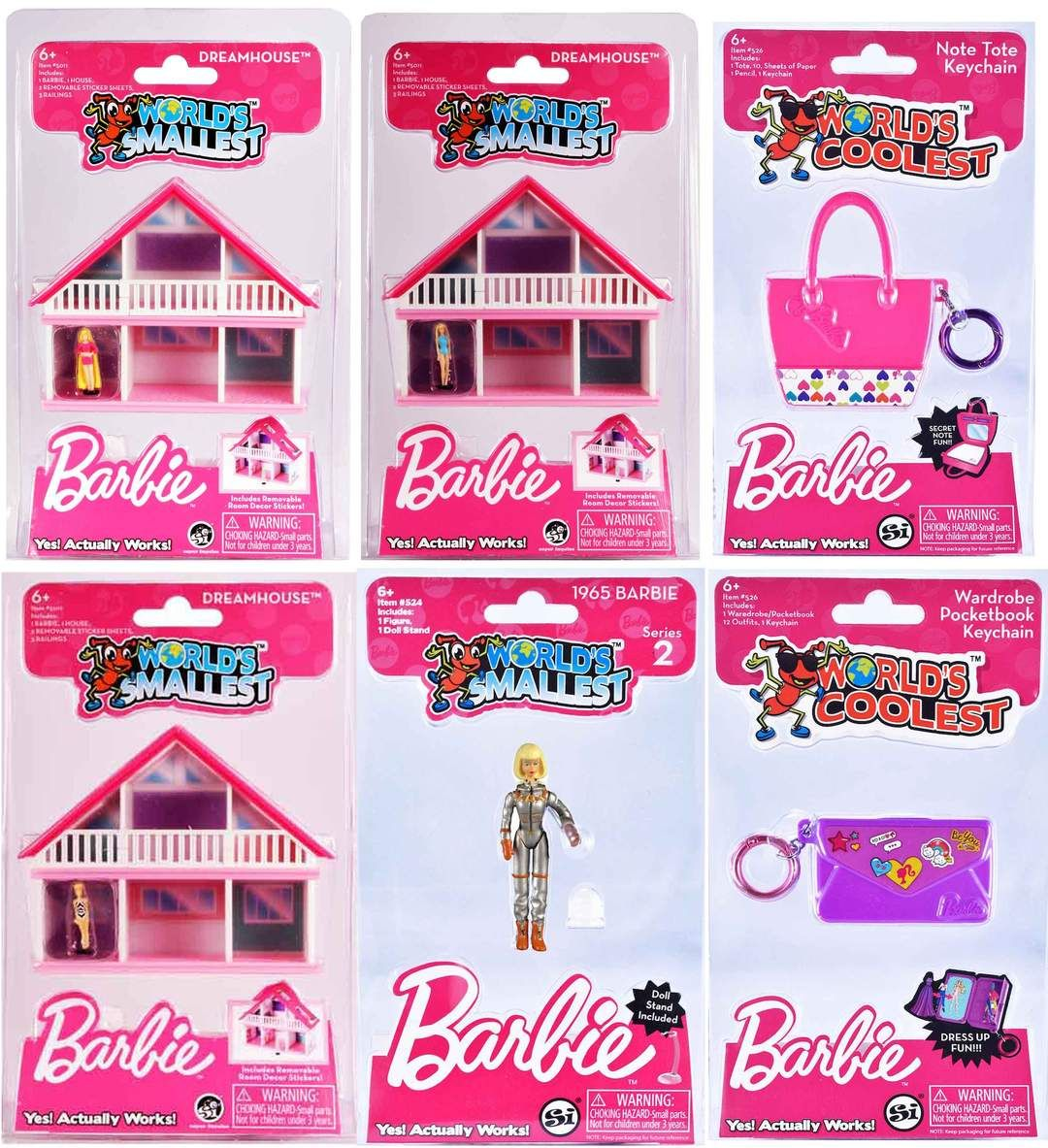 World/'s Smallest Barbie Dreamhouse and World/'s Smallest Barbie Series 2 Bundle
