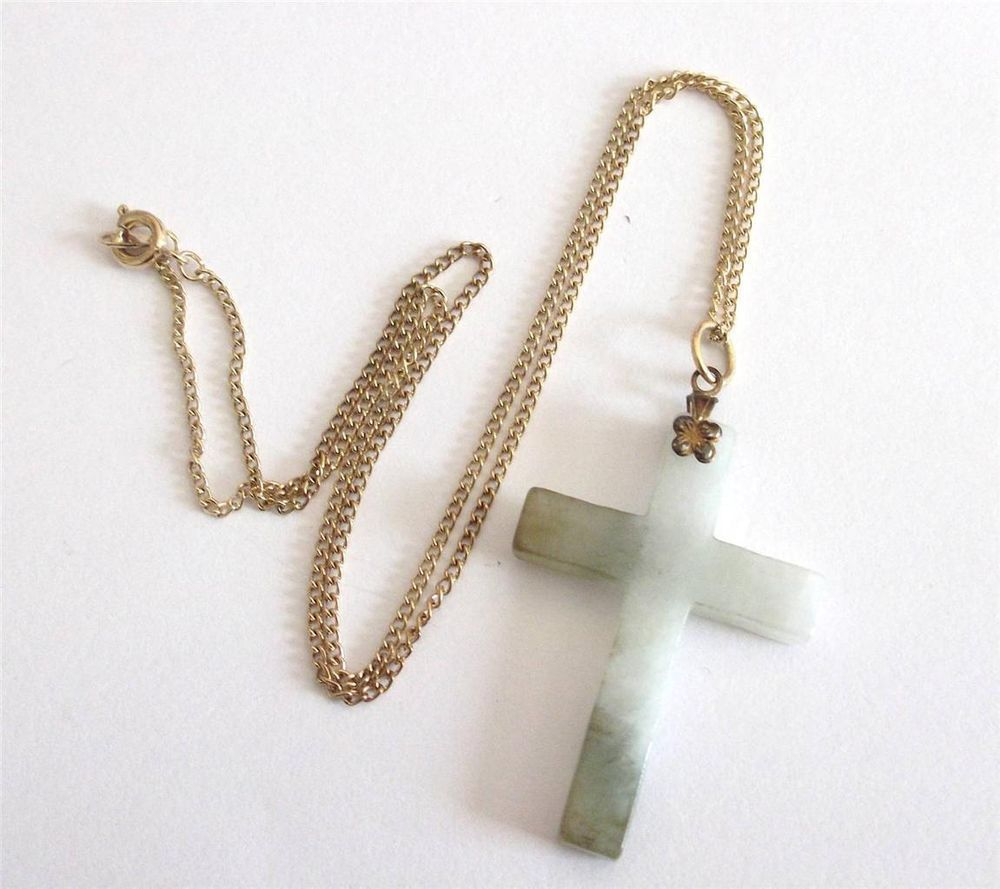 Vintage 50 s green agate or quartz genuine stone cross pendant vintage 50 s green agate or quartz genuine stone cross pendant necklace aloadofball Gallery