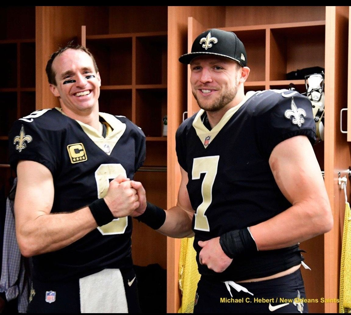 low cost 78530 36d08 Drew Brees and Taysom Hill New Orleans Saints 2017 - Even ...