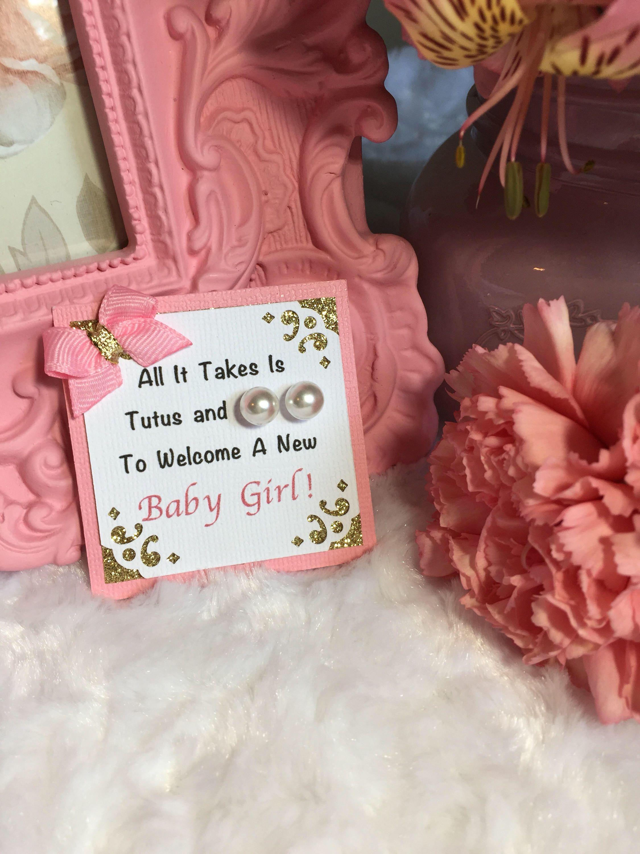 $145 $128 Ballerina Pearl Earring Baby Shower Favors