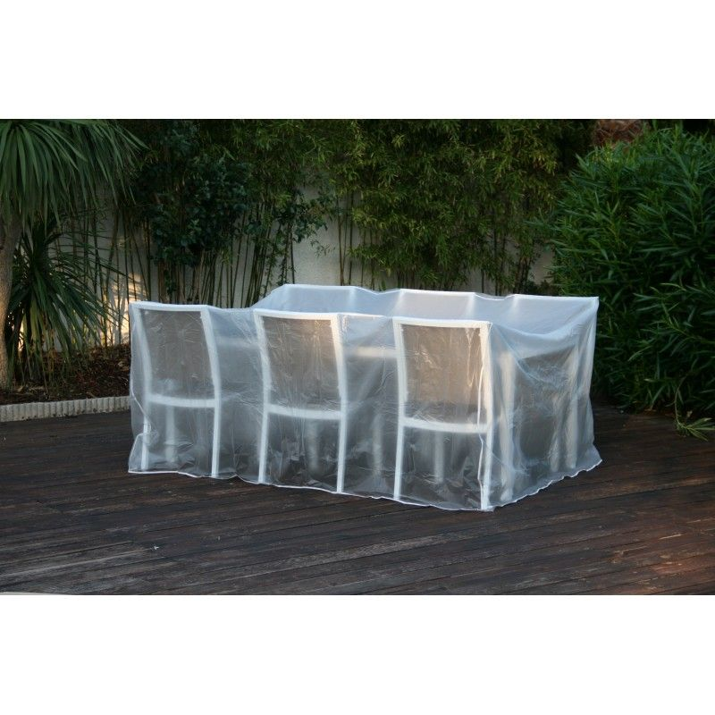 Grande housse de protection transparente pour tables et ...