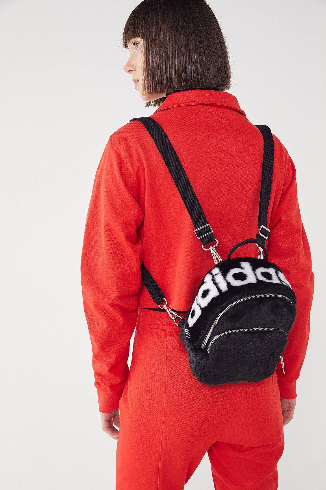 adidas Faux Fur Mini Backpack  98944a804389f