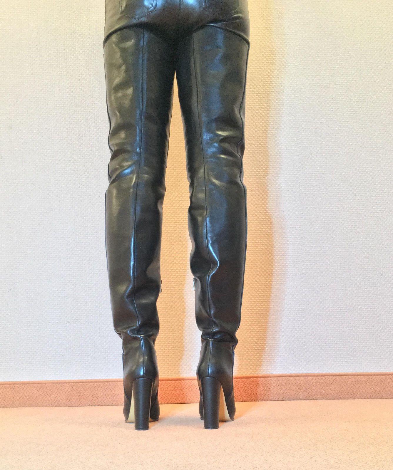827245e24e25ce Gr.45 TOP! Exclusive Sexy Women s Shoes Over the Knee Boots Stiletto Boots  Men C6