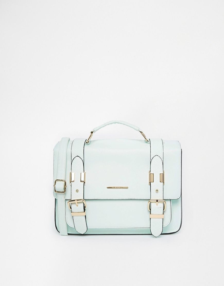 River Island Mint Large Satchel at asos.com