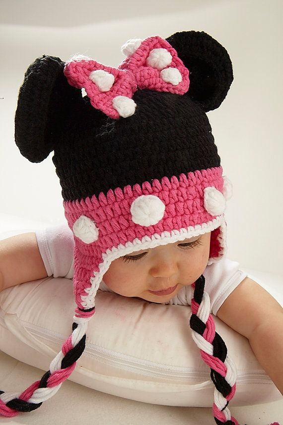 Mini Mouse Crochet Hat by vivandjoe on Etsy, £15.00 | Crochet ideas ...
