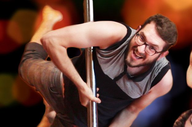 This Is What Happens When Guys Pole Dance For The First Time Men Pole Dancing Dancing Men Pole Dancing