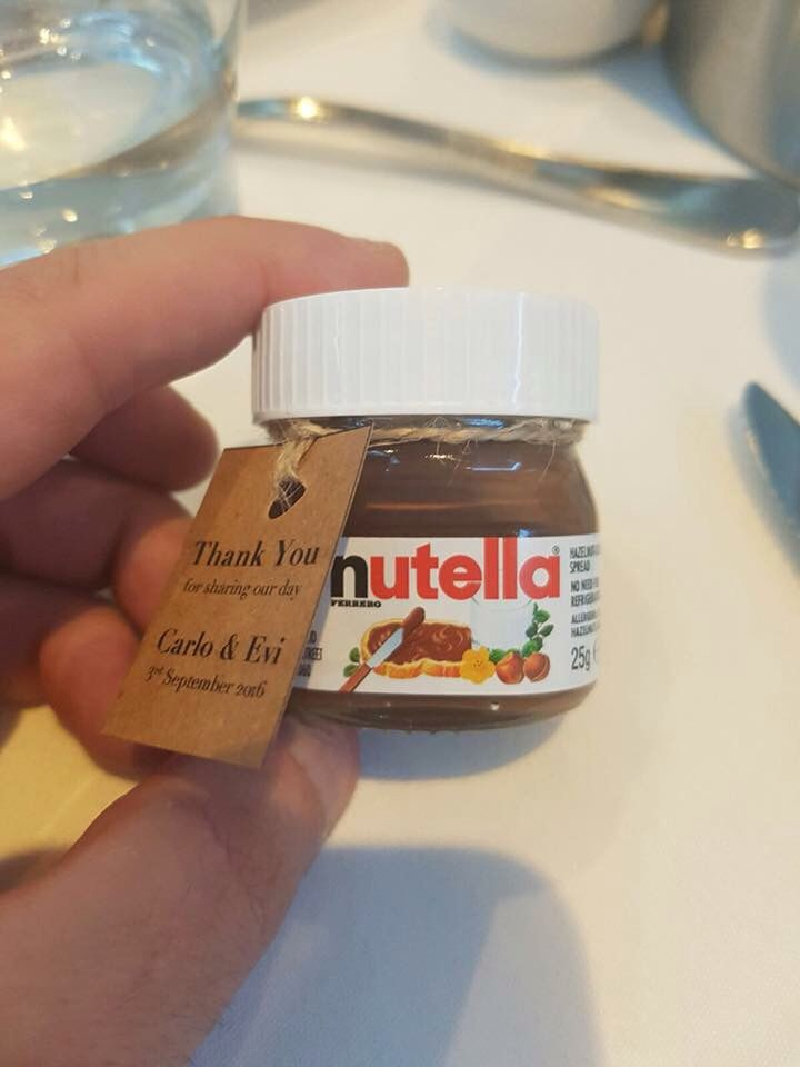 Matrimonio Tema Nutella : Mini nutella wedding favours my someday wedding idee per