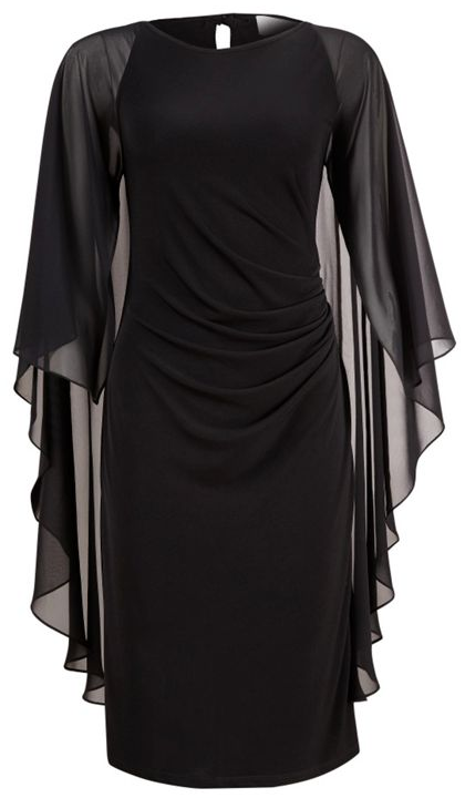 1c8f7610311 Black Angel Sleeve Dress. This would be great for a photoshoot ...