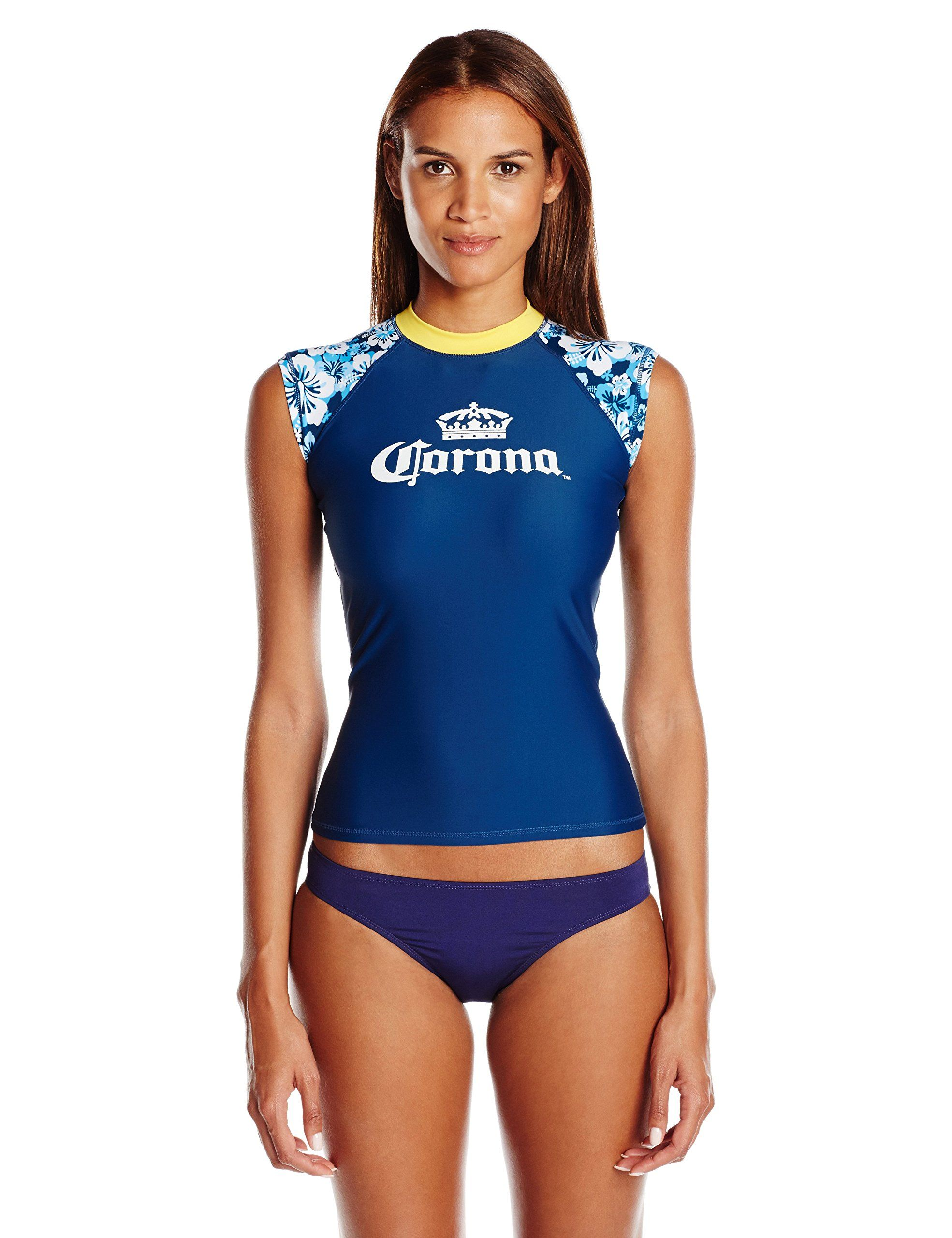 Corona Women s Floral Cap Sleeve Rash Guard 5e0d209d2