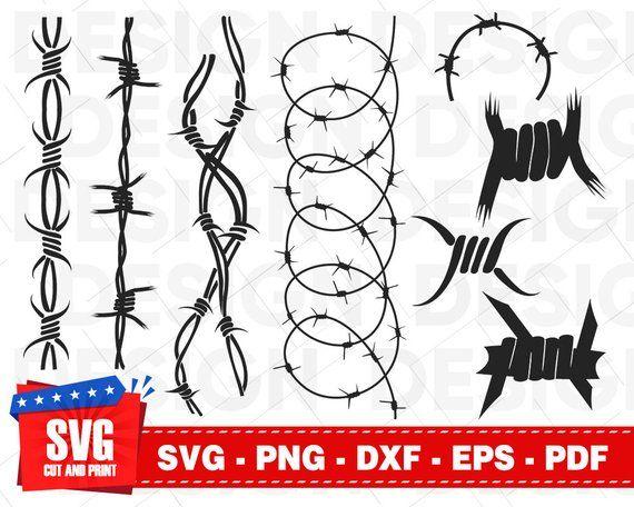 Barbed Wire Svg Prison Svg Barbed Wire Clipart Cricut Fence Etsy Barbed Wire Barbed Wire Tattoos Digital Clip Art