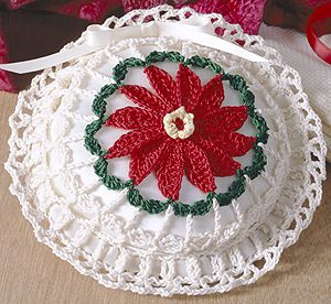 Poinsettia Sachet Thread Crochet Pattern ePattern