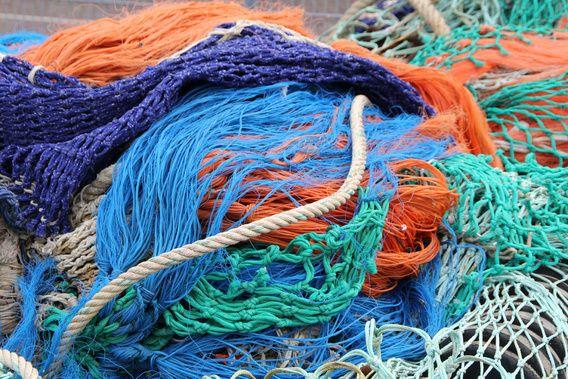 teko hardloopsokken visnetten uit de oceaan