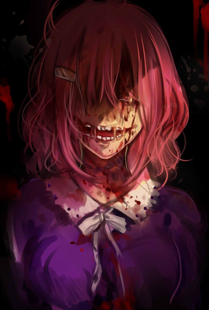 Bloody Anime Girl Zombie Gore Gakkou Gurashi Anime Pinterest