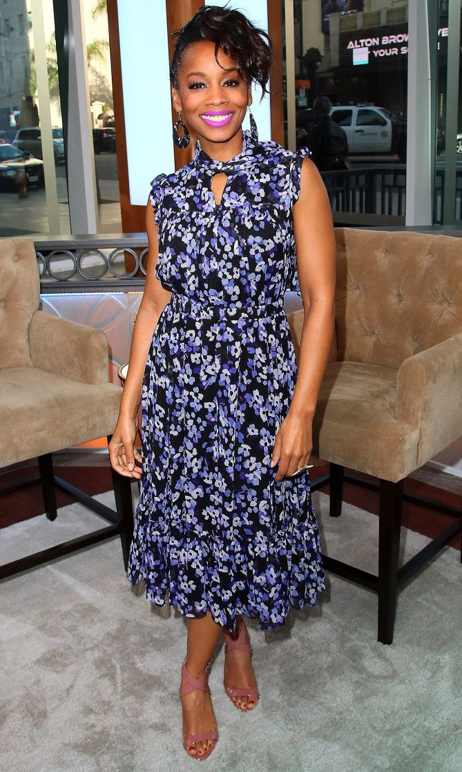 e62bf026c302 Anika Noni Rose in Kate Spade makes an appearance on  Today Live  in  Hollywood