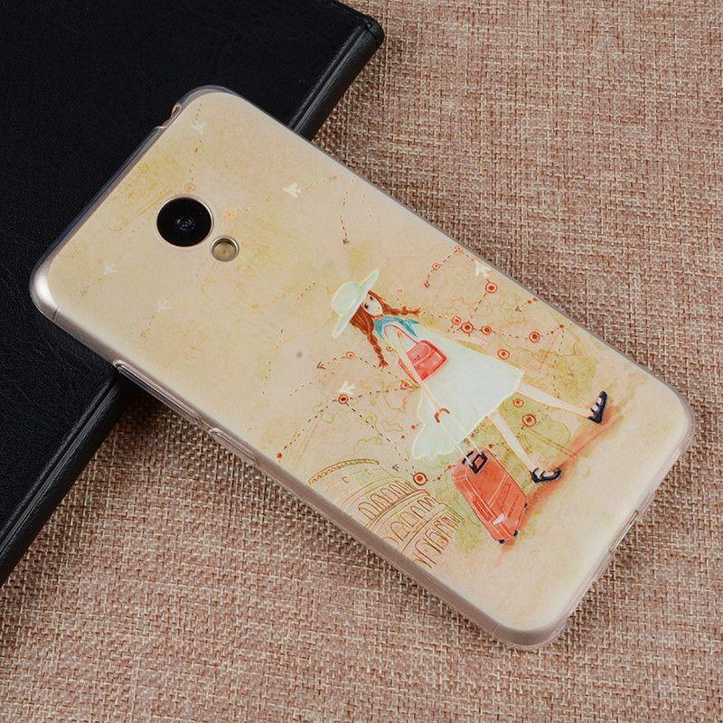 Silicone Case For Meizu M3/Meizu M3 Mini/Meizu M3S/Meizu M3S Mini Phone 5.0 Inch 3D Relief Painting Protector Back Cover Case