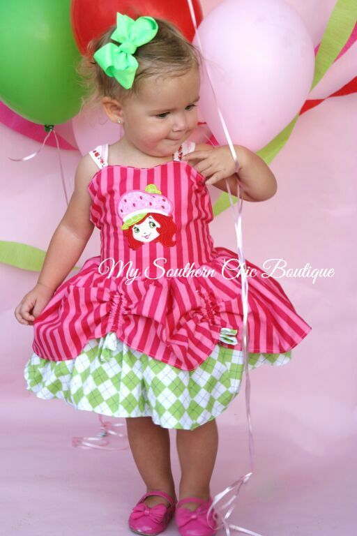 8d06209613c Strawberry girl themed dress Strawberry by MySouthernChic on Etsy Birthday  Girl Dress
