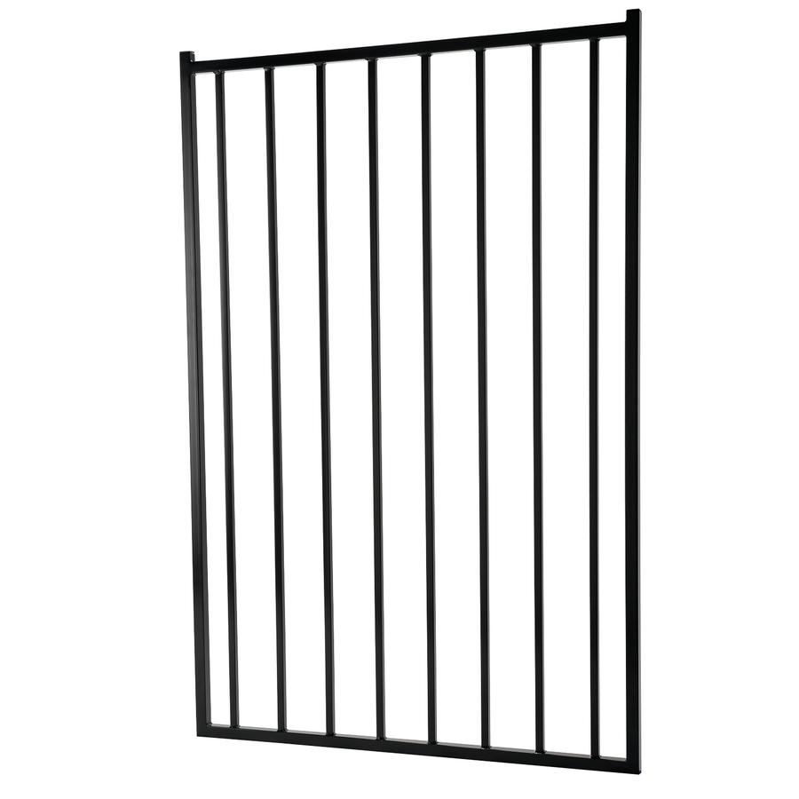 5 Ft X 3 5 Ft Powder Coated Vinyl Coated Steel Flat Top Decorative Metal Fence Gate Lowes Com Metal Fence Gates Metal Fence Metal Decor