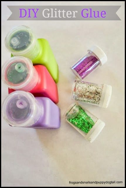 Diy colored glitter glue by fspdt great idea to make your for Arts and crafts glitter