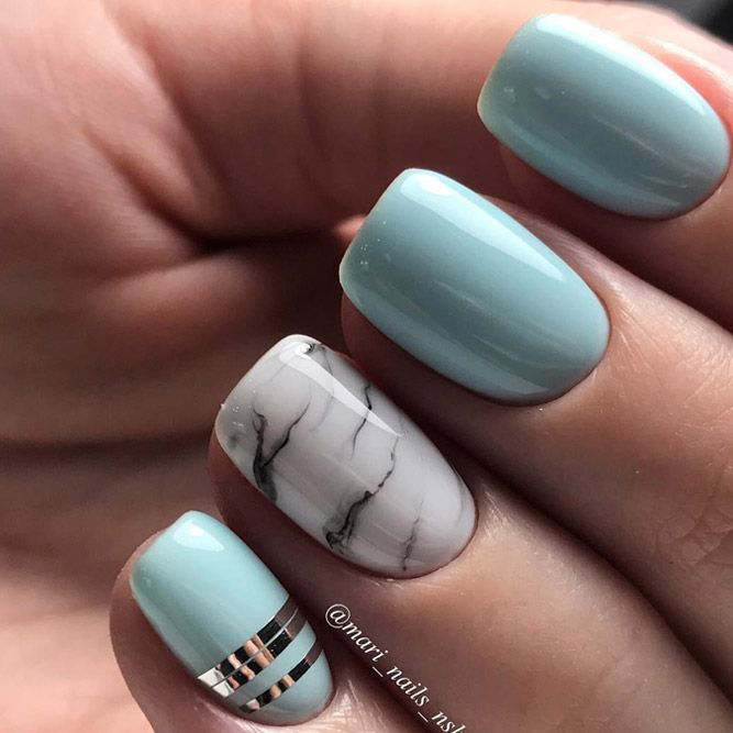 Check out these do-it-yourself trendy nail designs for short nails we know  you will love! Have short nails but are fresh out of ideas for fun nail art? - TOP 24 Trendy Nail Designs For Short Nails Nails Nails, Nail