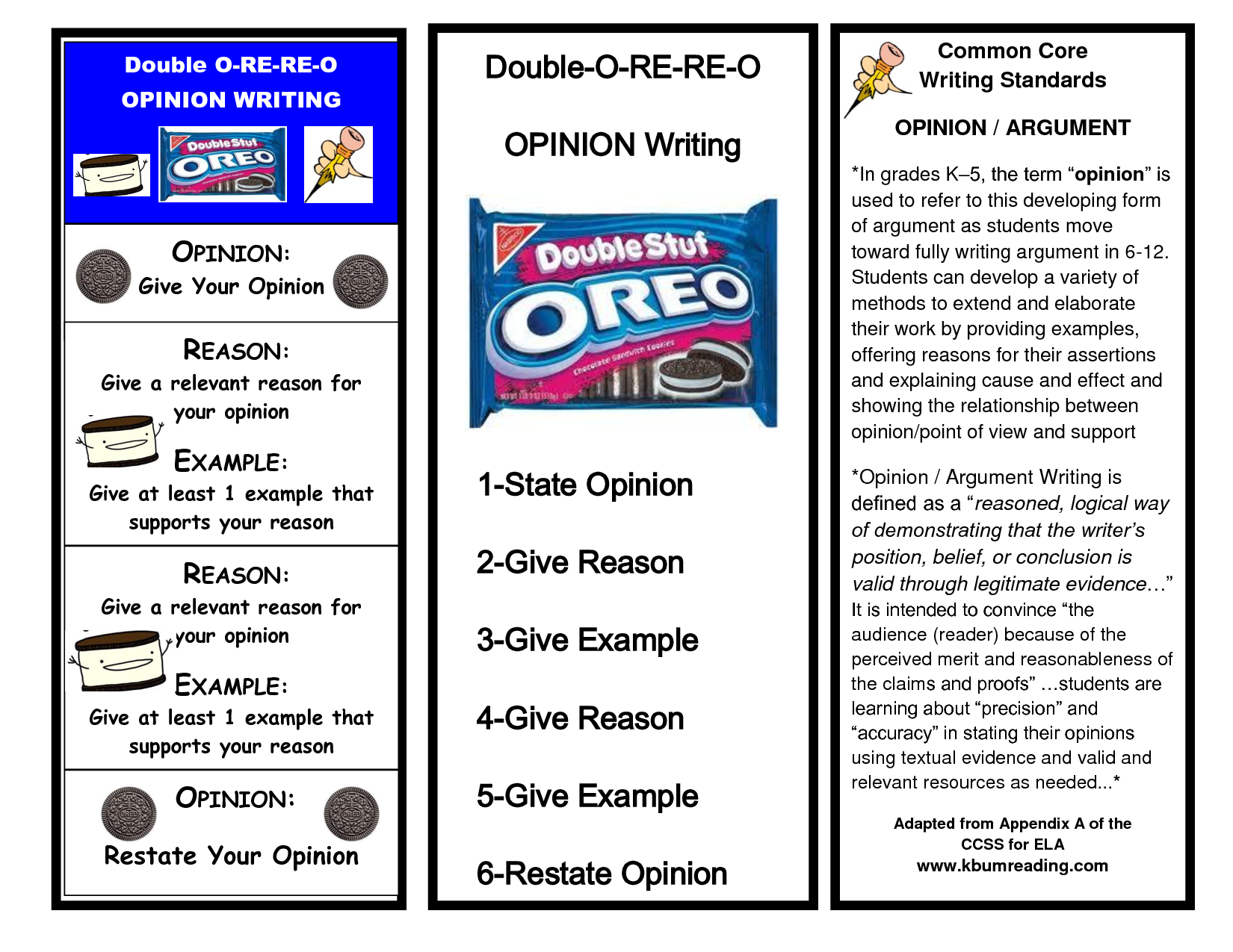 Oreo Opinion Writing Opinion Writing Oreo Opinion Writing Persuasive Writing