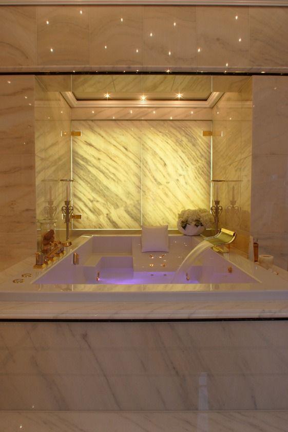 Baden unter Sternenhimmel - einfach romantisch das Badezimmer mit - spots für badezimmer