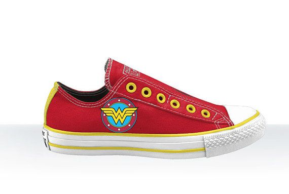 17afac03ef9b Wonder woman vintage style low top converse