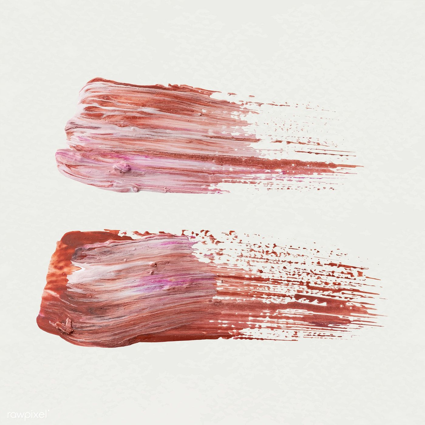 Pink Acrylic Brush Stroke Vector Free Image By Rawpixel Com