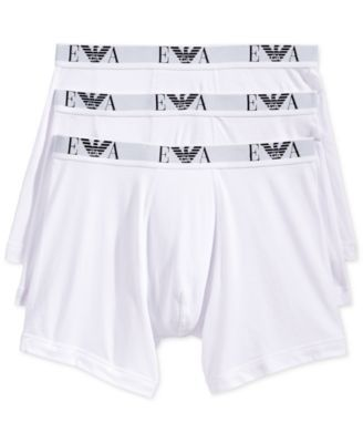 9dfce4432432 Emporio Armani Men's Underwear, Genuine Cotton Boxer Brief 3-Pack - Black/ White/Red S