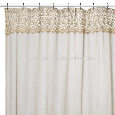 Exceptional Bali Hai Antique Fabric Shower Stall Curtain