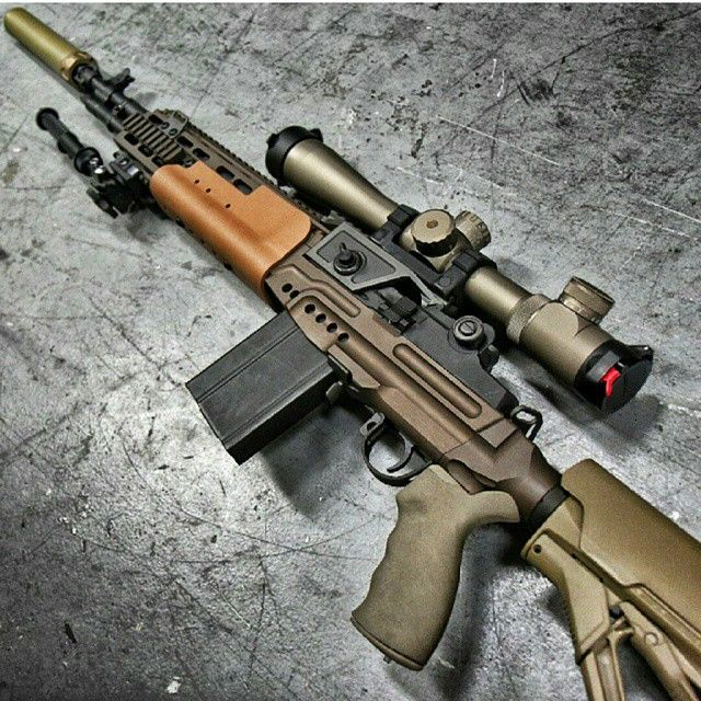 """@weaponsreloaded's photo: """"Crazyhorse! Closer look at the M1A Smith Enterprise Crazyhorse with EBR Chassis, @leupoldoptics MK 4 LR/T riflescope, @surefirelights SOCOM 7.62 RC silencer and Atlas bipod, at @otbfirearms ••••••••••••••••••••••••••••••••••••••••••••••••••• Photo Credit: @metalhead_1 ••••••••••••••••••••••••••••••••••••••••••••••••••• To see the most unique weapons in the world, follow @uniqueweapons ••••••••••••••••••••••••••••••••••••••••••••••••••• #weaponsreloaded ..."""