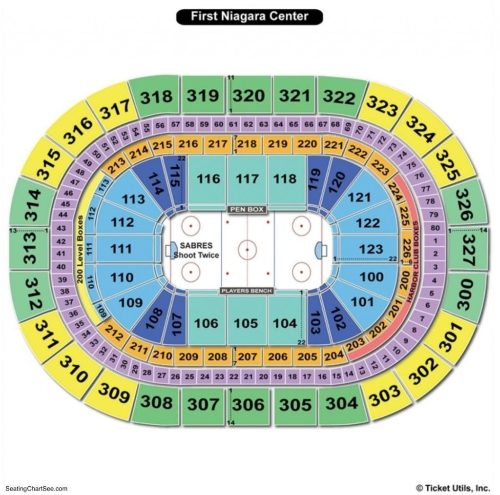 The Amazing Buffalo Sabres Seating Chart Seating Charts The Incredibles Chart