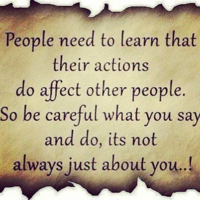 Your actions affect others  | Actions Speak Louder | All