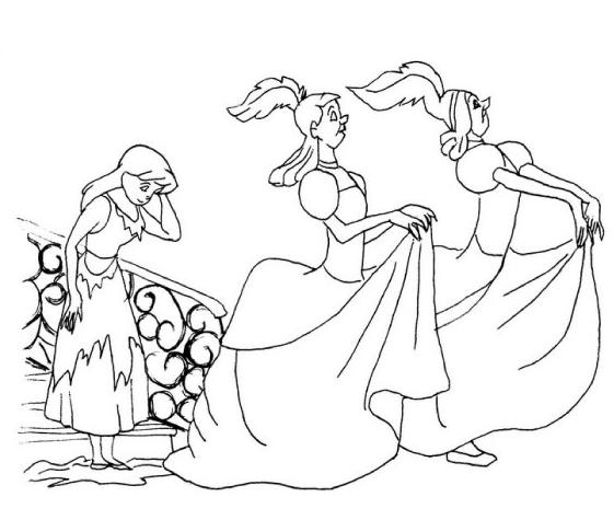 Cinderella 31 Ausmalbilder | Assepoester | Pinterest