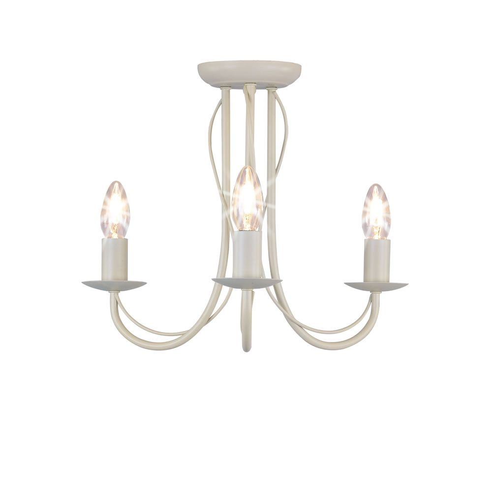 Wilko 3 arm chandelier metal ceiling light fitting cream wilko 3 arm chandelier metal ceiling light fitting cream mozeypictures Choice Image